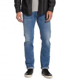 Diesel Blue Iakop Slim Tapered Jeans