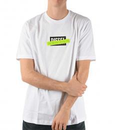 Diesel White Printed Just-Die T-Shirt