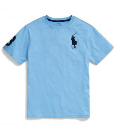 Ralph Lauren Boys Blue Lagoon Big Pony T-Shirt