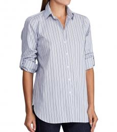 Ralph Lauren Blue Multi Straight-Fit Pinstriped Shirt