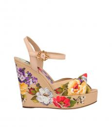 Multicolor Floral Wedges