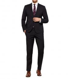 Emporio Armani Navy Blue Wool Solid M Line Suit