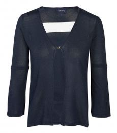 Armani Jeans Dark Blue V-Neck Cardigan