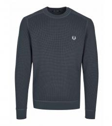 Fred Perry Dark Grey Logo Pullover Sweater