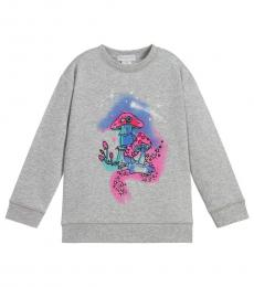 Stella McCartney Girls Grey Graphic Sweatshirt