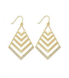 Ralph Lauren Gold Crystal Chandelier Earrings