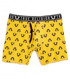 Yellow Logo Boxer Brief Underwear