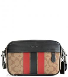 Coach Tan Soft Red Graham Large Crossbody
