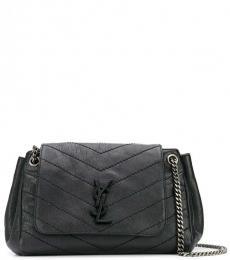 Saint Laurent Black Nolita Medium Shoulder Bag