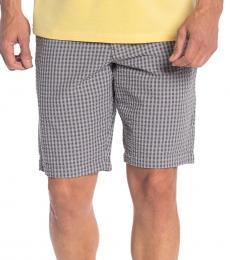 Grey-Island Check Seersucker Shorts