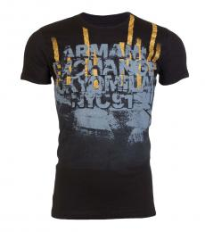 Armani Exchange Black Slim Fit Logo T-Shirt