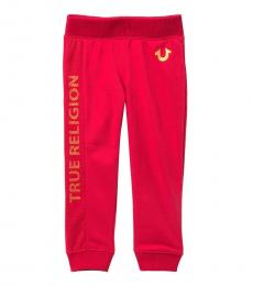 True Religion Little Girls Red Mesh Core Sweatpants