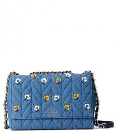 Kate Spade Denim Briar Lane Quilted Medium Shoulder Bag
