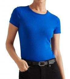 Ralph Lauren Blue Glacier Cotton-Blend T-Shirt