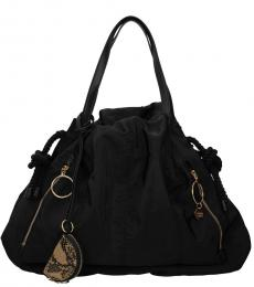 See by Chloe Black Ruched Large Tote
