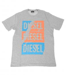 Diesel Boys Grey Logo T-Shirt