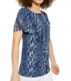 Blue Printed Blouse