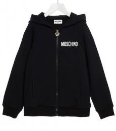 Moschino Boys Black Teddy Hoodie