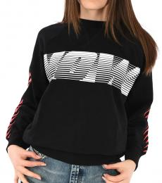 Diesel Black Crew Neck Logo Sweatshirt