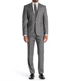 Grey Plaid Slim Fit Suit