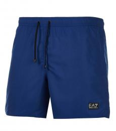 Emporio Armani Dark Blue Logo Patch Swimshorts