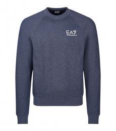Navy Blue Regular Fit Logo Sweater