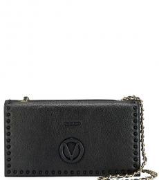 Mario Valentino Black Lena Large Shoulder Bag