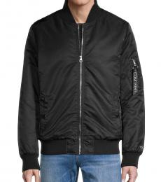 Calvin Klein Black Nylon Flight Jacket