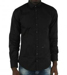 Dsquared2 Black Spread Collar Shirt