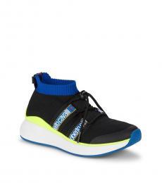 Roberto Cavalli Black Lace-Up Vamp Sneakers