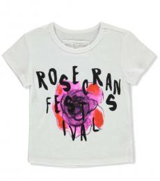 True Religion Little Girls White Graphic T-Shirt