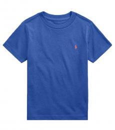 Ralph Lauren Boys Bright Navy Jersey Crewneck T-shirt