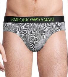 Emporio Armani Grey 2-Pack Animal-Print Briefs