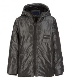 Calvin Klein Boys Dark Grey Elevated Bubble Jacket