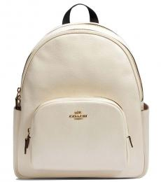 Coach White Court Large Backpack