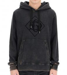 Dolce & Gabbana Grey Logo Hooded Sweatshirt