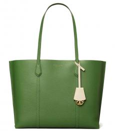 Tory Burch Green Perry Large Tote