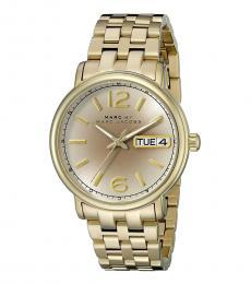 Marc Jacobs Golden Fergus Round Dial Watch
