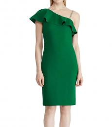 Riding Green Embellished Party Dress