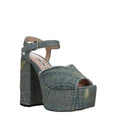 Blue Denim Vintage Heels
