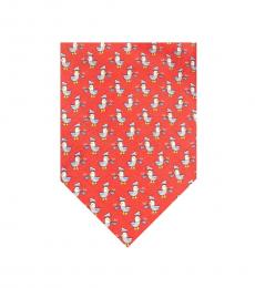 Salvatore Ferragamo Red Captain Duck Print Tie