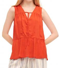 DKNY Sunset Ruched Panel Top