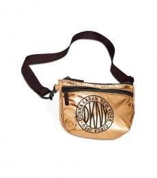 DKNY Gold Metallic Foil Belt Bag