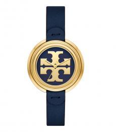 Tory Burch Navy-Gold Miller Watch