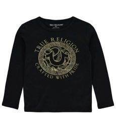 True Religion Little Boys Black Graphic Long Sleeve T-Shirt