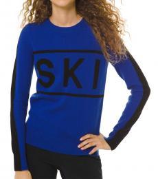 Royal Blue Logo Ski Sweater