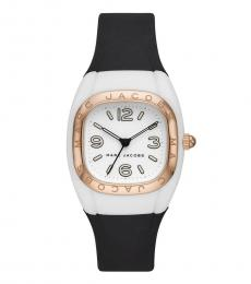Marc Jacobs Black Silicone White Dial Watch