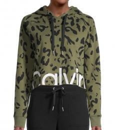 Calvin Klein Bonsai Cropped Cotton-Blend Hoodie