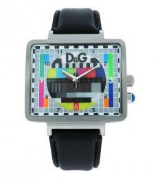 Black Retro Tv Style Time Piece