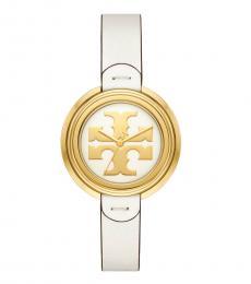 Tory Burch Ivory-Gold Miller Watch